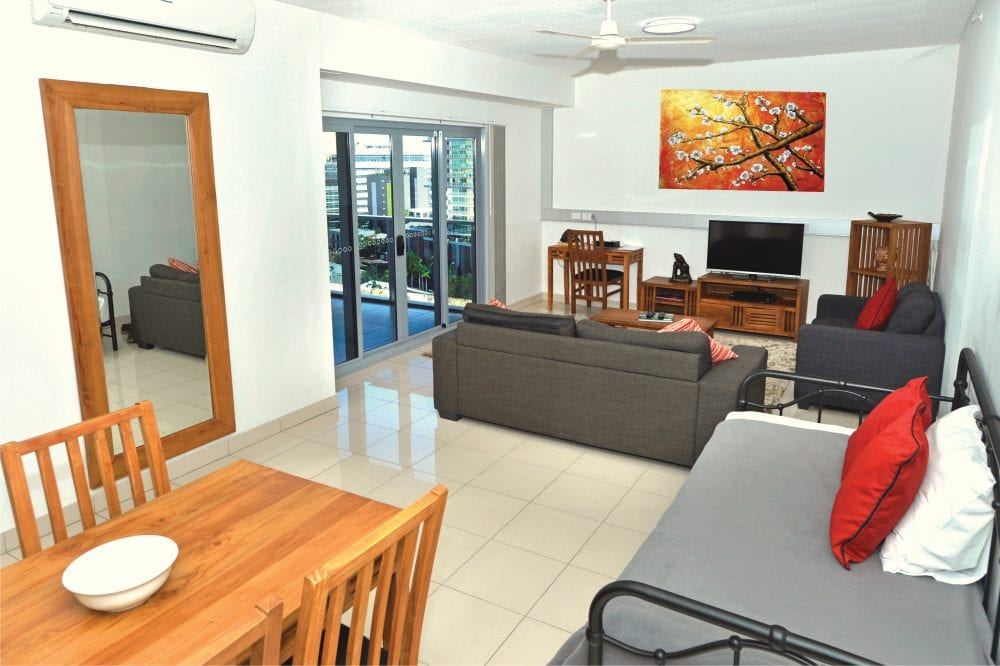 Two Bedroom Apartment Darwin Living Room